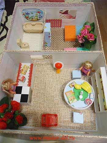 кукольный домик своими руками-фото