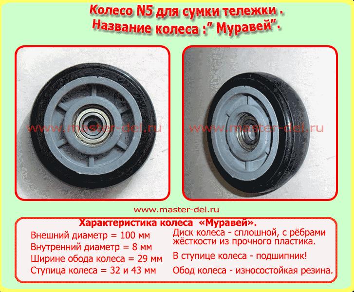 запасное колесо для сумки тележки Муравей, колёсико для хозяйственной сумки тележки